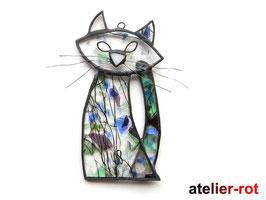 Gute Laune Katze, Tiffany Fensterbild