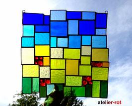 Sonnenfänger Tiffany modernes Fensterbild Rapsfeld