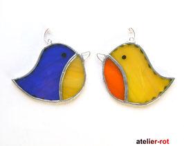 süßer Vogel 2er Set süsser Piepmatz Tiffany Fensterbild