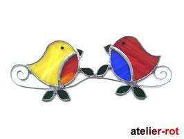 Vogel Paar Fensterbild Tiffany Pärchen