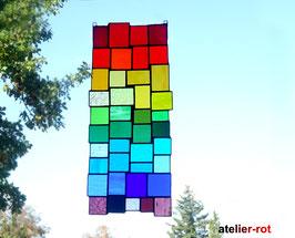 modernes Tiffany Fensterbild große Bunte Vielfalt Regenbogen