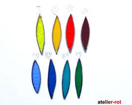 Tropfen / Blatt  Anhänger 8er Set Fensterbild Regenbogen Tiffany