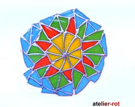 wildes Mandala Blume Fensterdeko Tiffany Anhänger