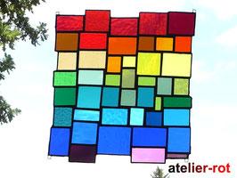modernes Fensterbild Bunte Vielfalt XL Tiffany