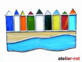 Strandhäuser Tiffany Fensterbild