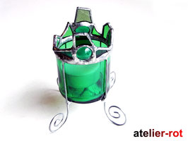 Windlicht Tiffany upcycelt aus Prosecco Flasche