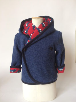 Walkjacke blau/autos  Gr.M (104)
