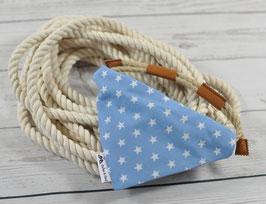 Tau-Hundehalstuch - Sterne Babyblau