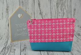 Kosmetiktasche Kylie - Pink mit Ankern