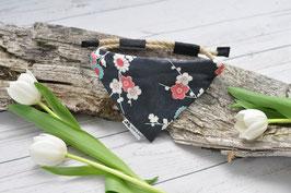 Tau-Hundehalstuch - japanische Blumen