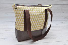 Tasche Milow -  Senfgelbe Dreiecke