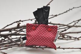 Beutelspender - Rot mit Pünktchen