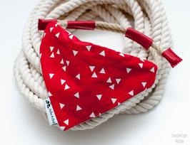 Tau-Halstuch - Dreiecke Rot