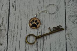 Schlüsselanhänger Carbochon