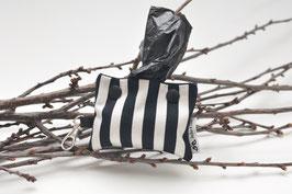 Beutelspender - Schwarz-Weiß-Gestreift
