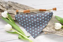 Tau-Hundehalstuch - blaue Sterne