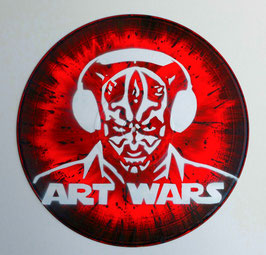 Disque Vinyle Décoratif DARK MAUL - ART WARS (Pochoir Star Wars)