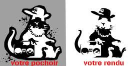 "Pochoir Banksy ( à bomber) Rat ""Thug Life"""