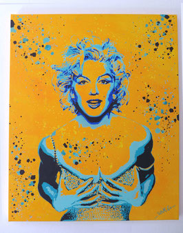 Tableau Street Art Marilyn Monroe - Sexy Blue Splash