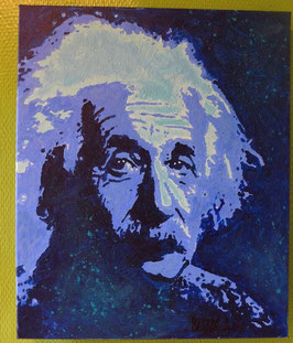 Tableau Street Art -Albert Einstein - Slave 2.0
