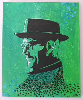 Tableau Street Art Heisenberg (Bryan Cranston) - Breaking Bad - Green Meth