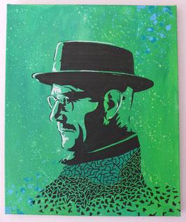 Tableau Street Art Heisenberg (Bryan Cranston) - Breaking Bad - Green Meth