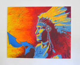 Tableau Street Art Indian Chief - Slave 2.0
