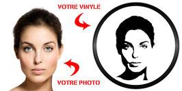 Portrait Personnalisé sur Vinyle