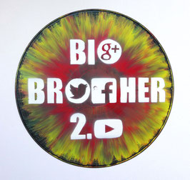 Disque Vinyle Décoratif BIG BROTHER 2.0 - Facebook, Twitter, Google+