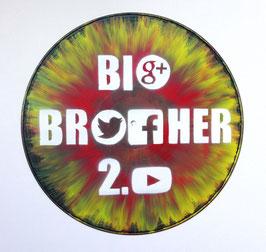 Disque Vinyle Décoratif BIG BROTHER 2.0 - Facebook, Twitter, Google+