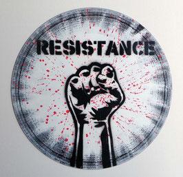 Disque Vinyle Décoratif RESISTANCE - Poing Fermé