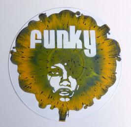 Disque Vinyle Décoratif FUNKY WOMAN AFRO