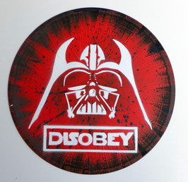 Disque Vinyle Décoratif DARK VADOR - DISOBEY (Pochoir Star Wars)