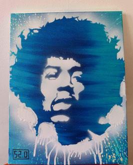 Tableau Street Art -Jimi Hendrix - Slave 2.0