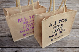 "Jute Shopper ""All you need ist love...."