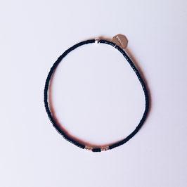 Bracelet fin élastique noir