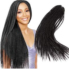 """20"""" Crochet Afro Senegal Rope Braid Perruques de tresse fin de dentelle tressée synthétique Wigs..."""