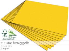 Cardstock Struktur Honiggelb