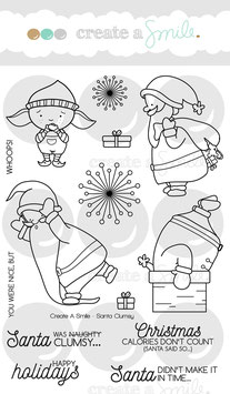 Clear Santa Clumsy