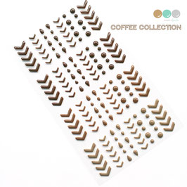 Coffee Collection Enamel Stickers