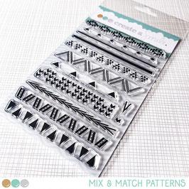 Clear A6 Mix & Match Patterns