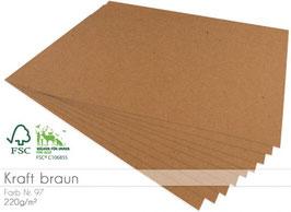 Cardstock Kraft braun