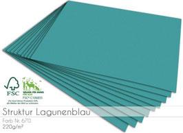 Cardstock Struktur Lagunenblau