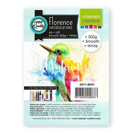 Florence Watercolor Paper Smooth white 300g A6