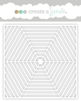 Stencil: Hexagon web