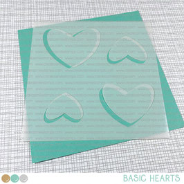 Stencil: Basic Hearts