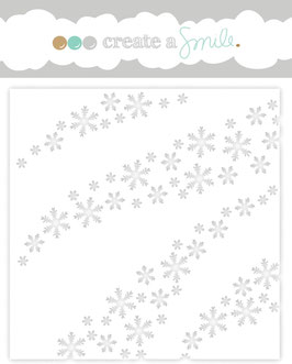 Stencil: Wave Of Snowflakes
