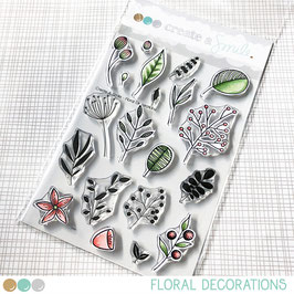 Clear A6 Floral Decorations
