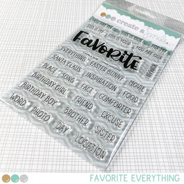 Clear A6 Favorite Everything