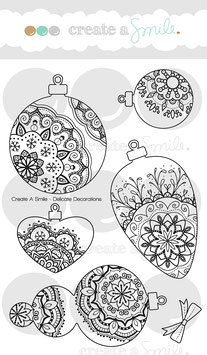 Clear A6 Delicate Decorations
